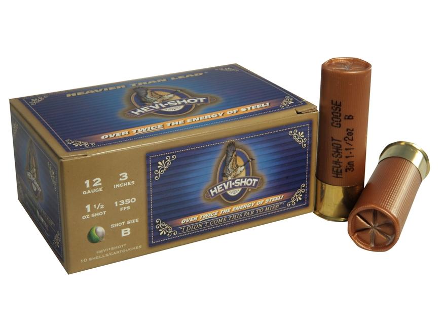 "Hevi-Shot Goose Waterfowl Ammunition 12 Gauge 3"" 1-1/2 oz B Non-Toxic Shot Case of 100 ..."