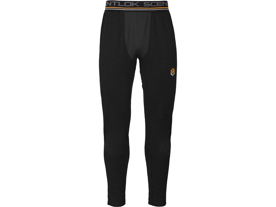 Scent-Lok Men's Nexus Arctic Weight Base Layer Pants Polyester Black Heather