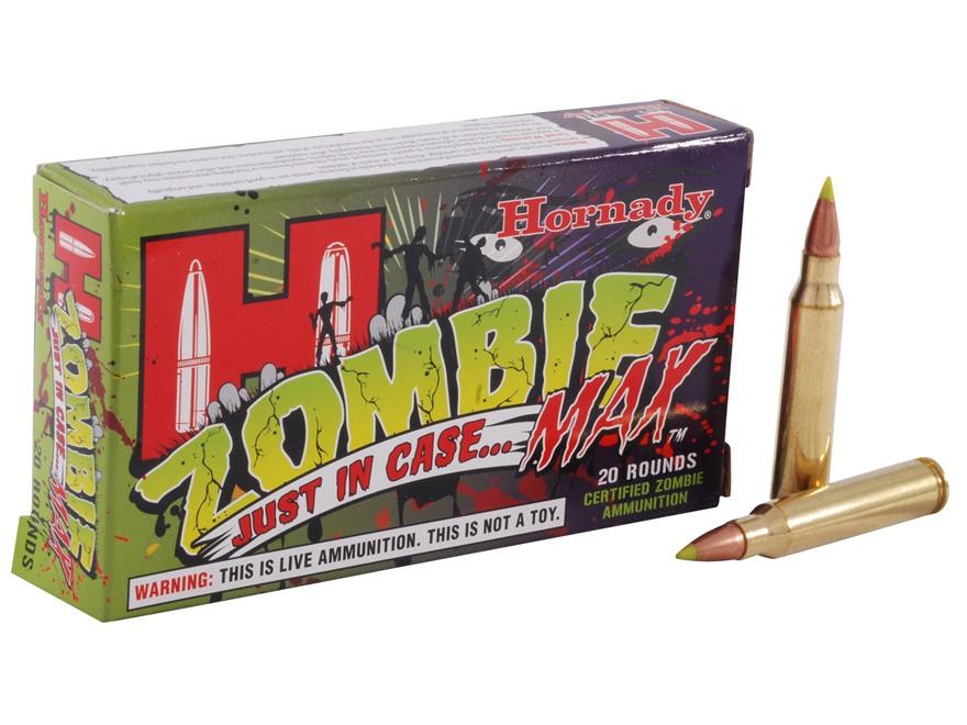 Hornady Zombie Max Ammunition 223 Remington 55 Grain Z-Max Box of 20