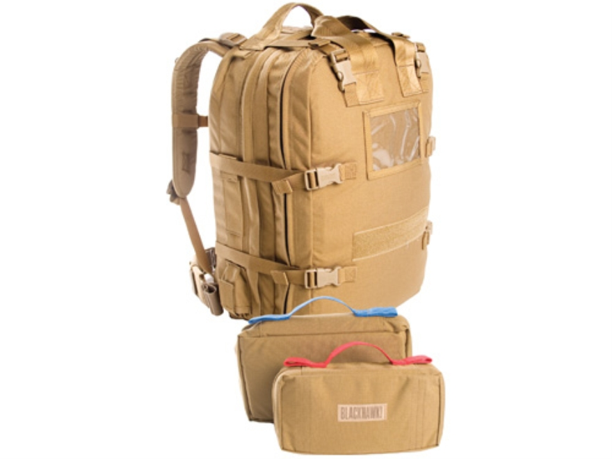 BLACKHAWK! S.T.O.M.P. II Jumpable Medical Coverage Backpack Nylon Desert Tan