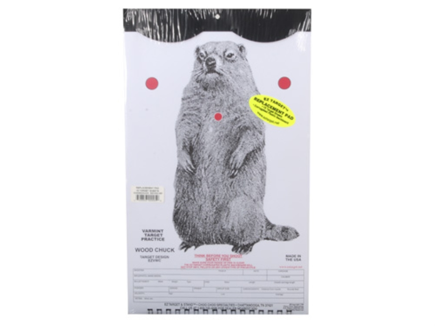 "EZ Target Woodchuck Replacement Target 11"" x 17"" Paper Pack of 15"