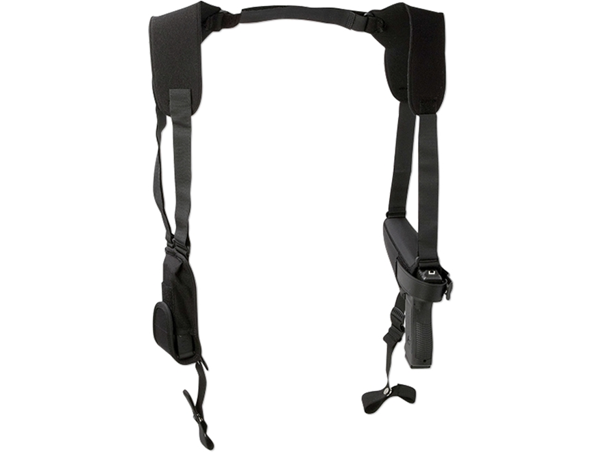Uncle Mike's Pro-Pak Horizontal Shoulder Holster Ambidextrous Medium Frame Double Actio...