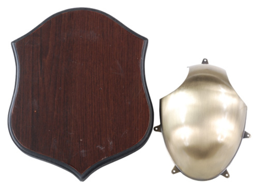 Flambeau Deer Antler Mounting Kit Brass with Wood Shield