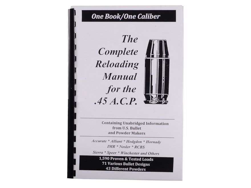 "Loadbooks USA ""45 ACP"" Reloading Manual"