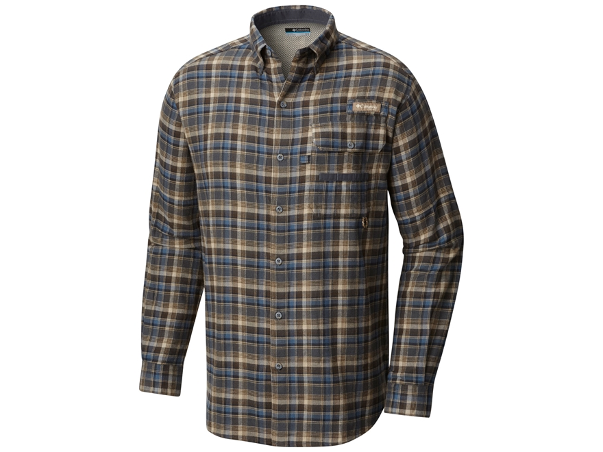 Columbia Men's Sharptail Flannel Shirt Long Sleeve Cotton