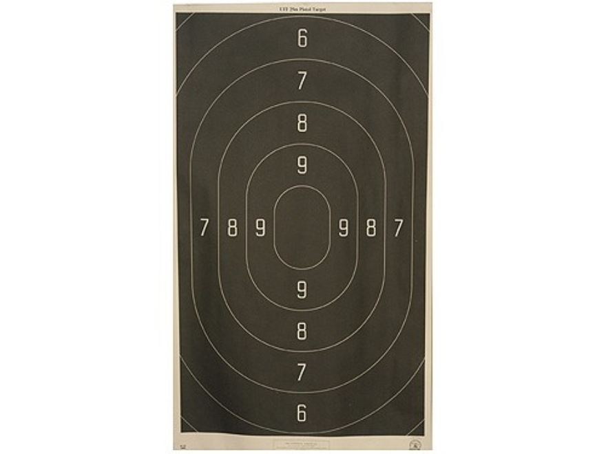 NRA Official Action Pistol Targets B-18 50 Yard Rapid Fire Paper Pack of 100