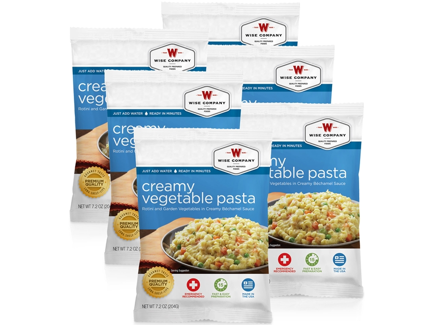 Wise Food Long Term 25 Year 4 Serving Creamy Pasta & Vegetables Freeze Dried Food