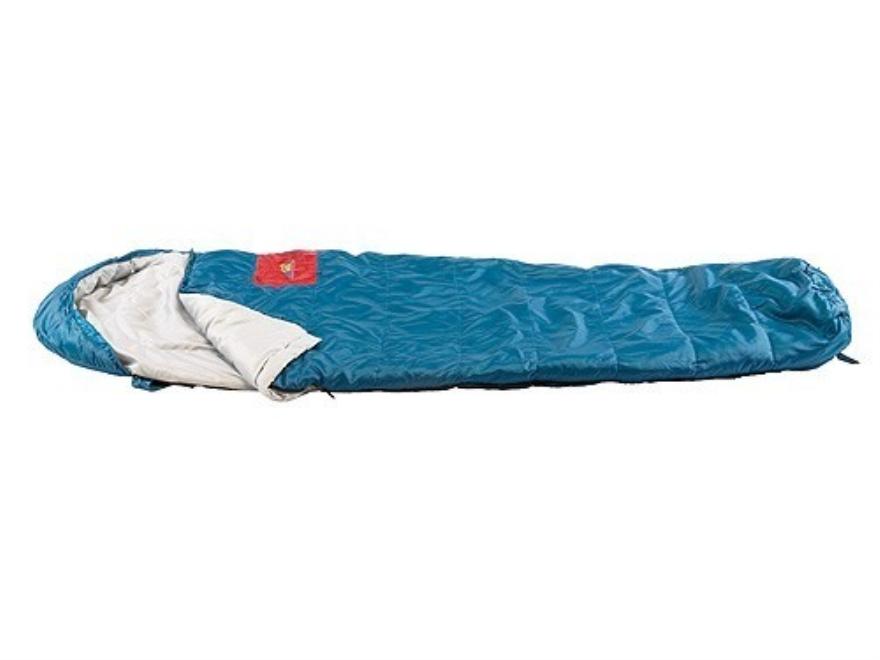 """Texsport Cedar Pass 30 Degree Mummy Sleeping Bag 33"""" x 84"""" x 24"""" Polyester Blue"""