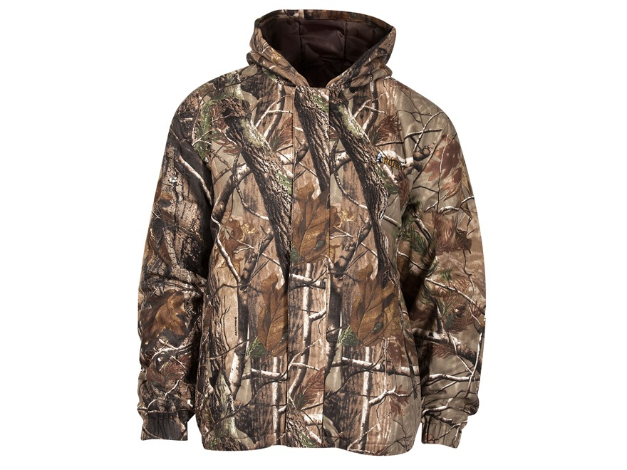 Rocky Men's Vitals Hooded Jacket Long Sleeve Cotton Realtree APX Camo