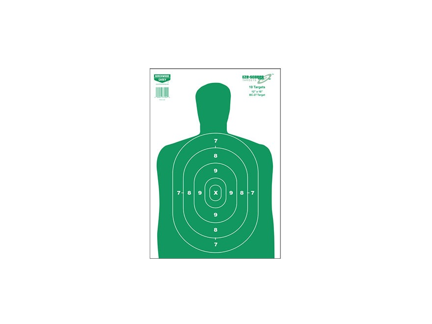 "Birchwood Casey Eze-Scorer BC27 Green Targets 12"" x 18"" Pack of 10"
