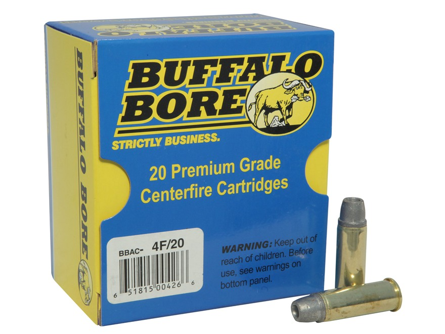 Buffalo Bore Ammunition 44 Remington Magnum +P 240 Grain Lead Soft Cast Hollow Point Ga...