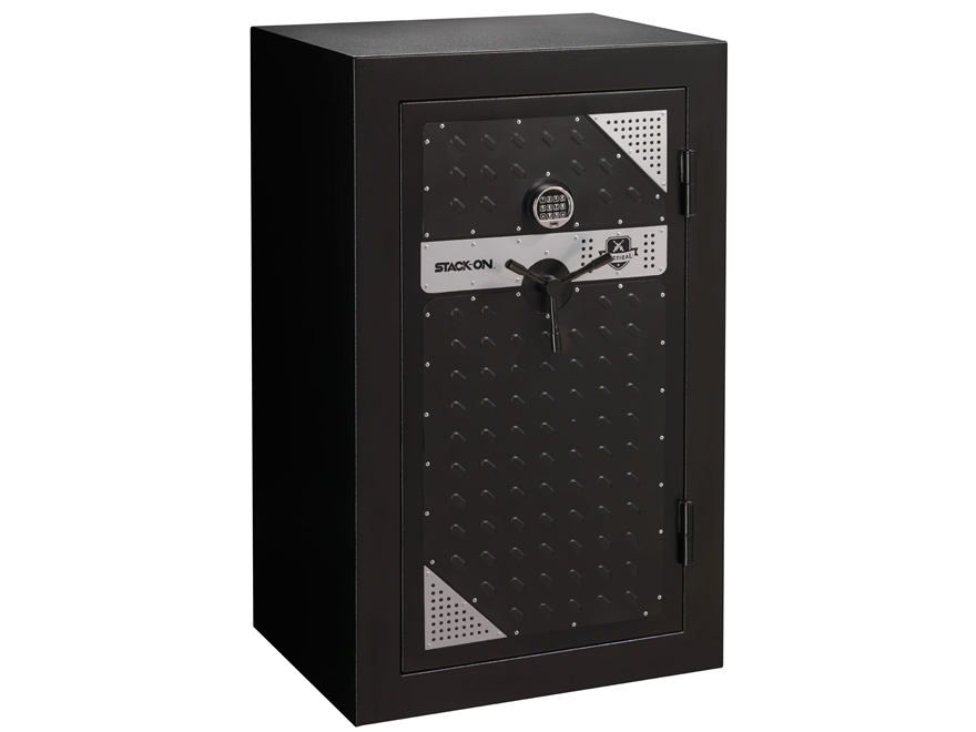 Stack On Tactical Security Fire Resistant 20 Gun Safe With Electronic Lock  Black/ Silver