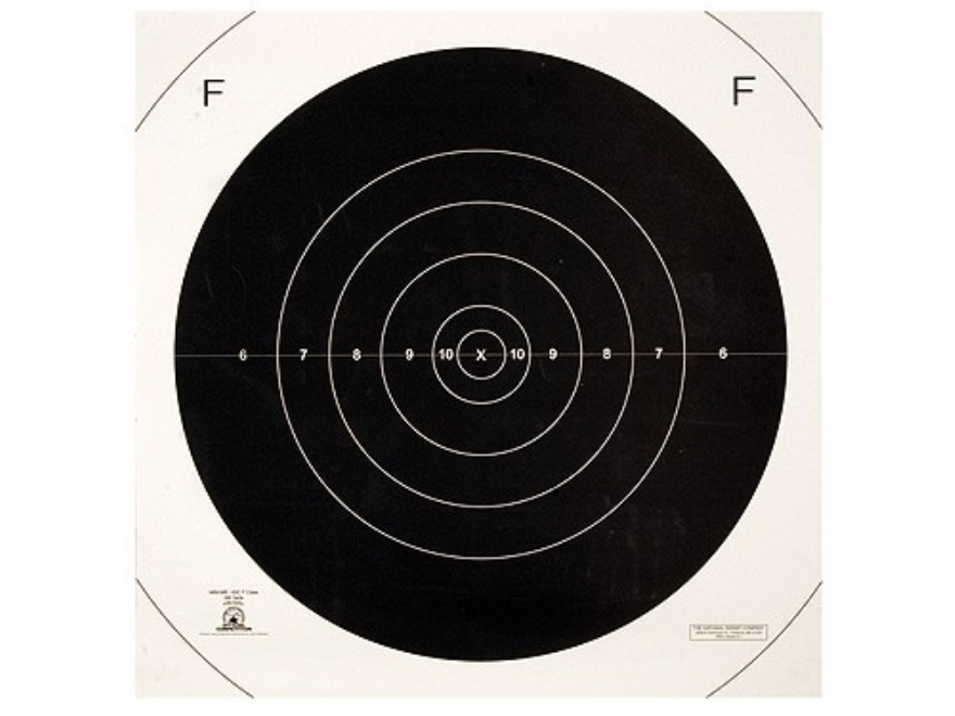 NRA Official F-Class Rifle Targets Repair Center MR-63FC 300 Yard Paper Pack of 100
