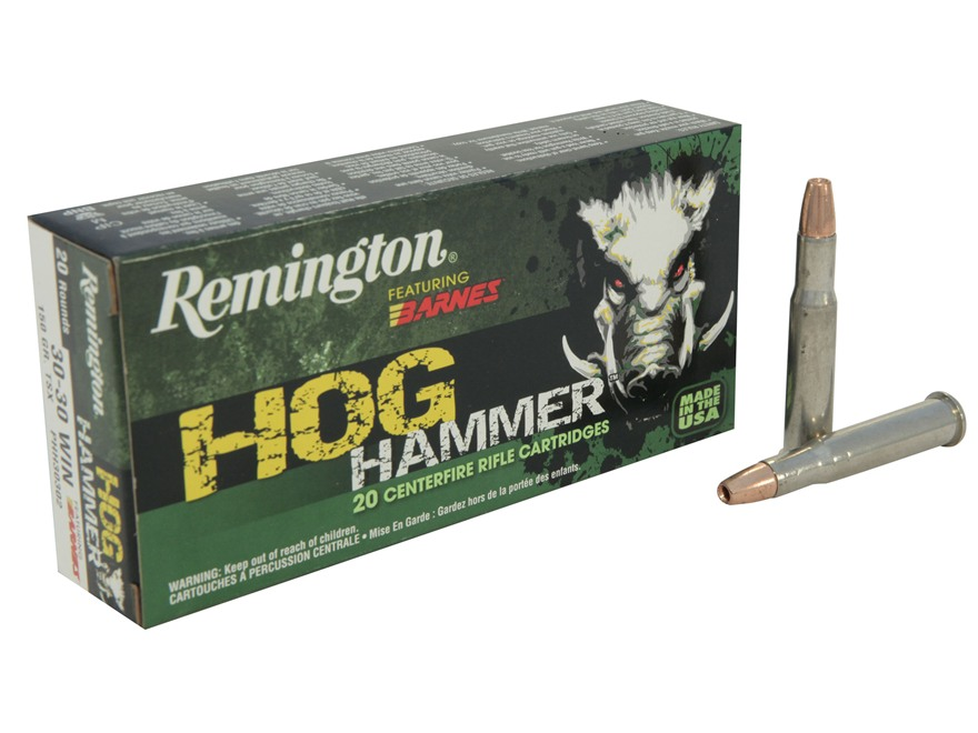 Remington Hog Hammer Ammunition 30-30 Winchester 150 Grain Barnes Triple-Shock X Bullet...