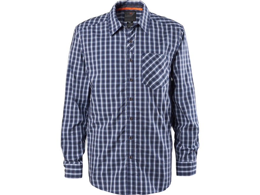5.11 Men's Covert Flex Button-Up Shirt Long Sleeve Polyester