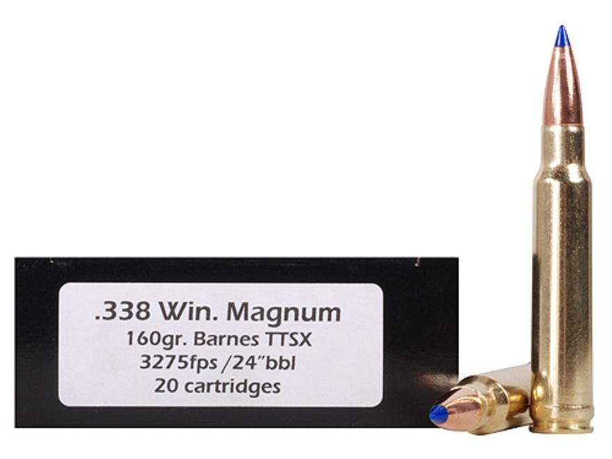 Doubletap Ammunition 338 Winchester Magnum 160 Grain Barnes Tipped Triple-Shock X Bulle...
