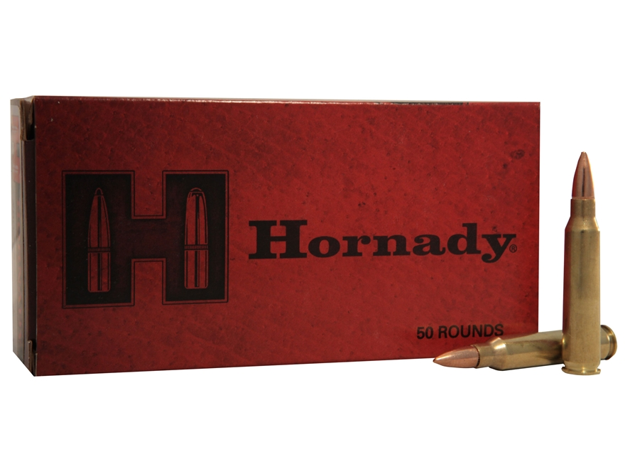 Hornady Custom Ammunition 223 Remington 55 Grain Full Metal Jacket Boat Tail Box of 50