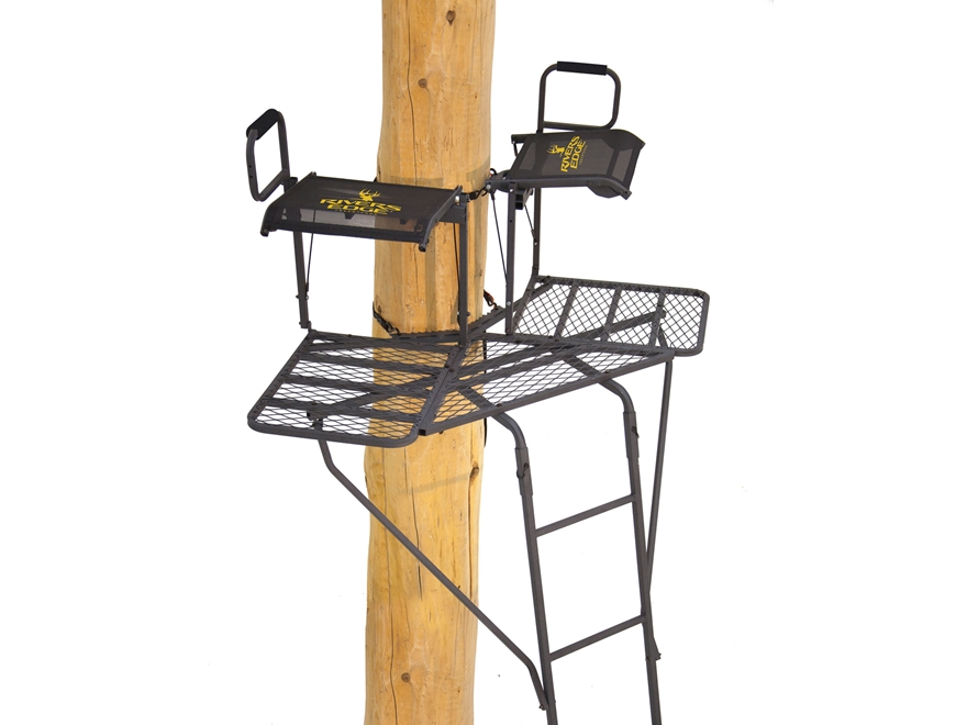 Rivers Edge 2-Man Bowman Ladder Treestand Steel Gray