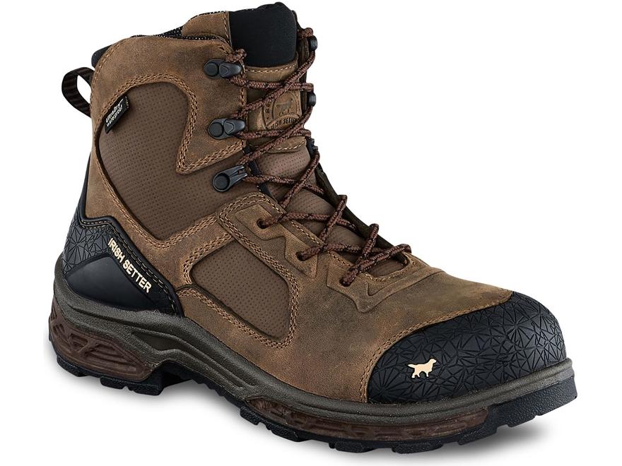 "Irish Setter Kasota 6"" Side-Zip Non-Metallic Safety Toe Work Boots Men's"