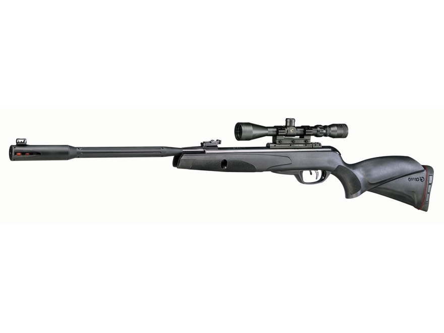 Gamo Whisper Fusion Mach 1 Break Barrel Air Rifle Pellet Black Synthetic Stock Matte Ba...