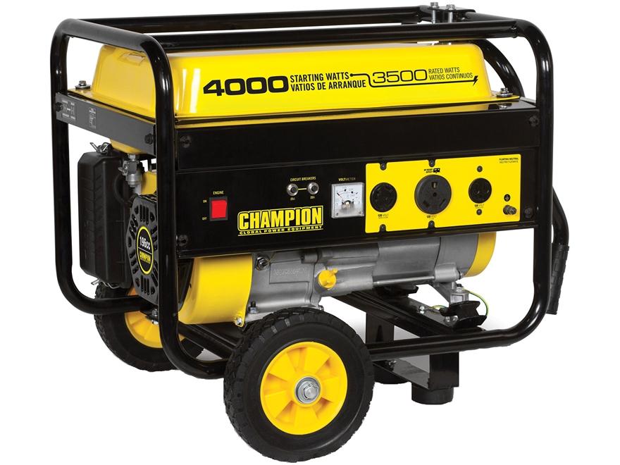 Champion 3500/4000 Watt Gas Powered Generator with Wheel Kit