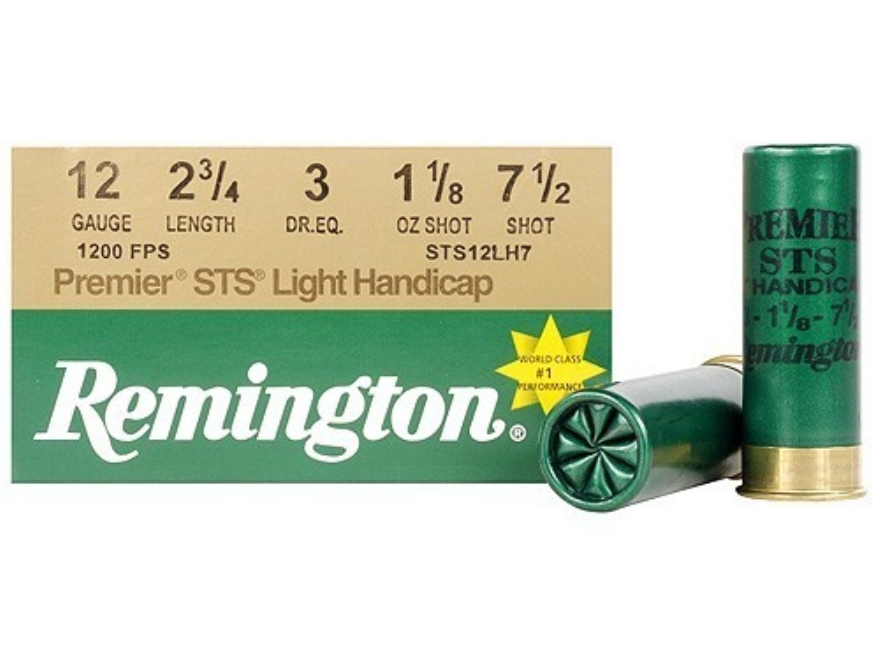 "Remington Premier STS Target Ammunition 12 Gauge 2-3/4"" 1-1/8 oz #7-1/2 Shot"