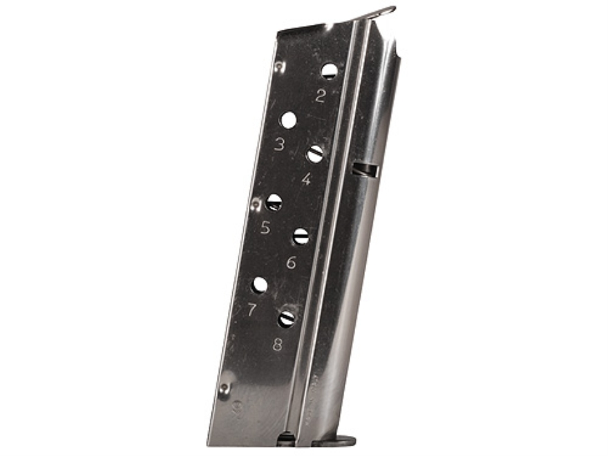 Mec-Gar Magazine 1911 Government, Commander 40 S&W 8-Round Steel