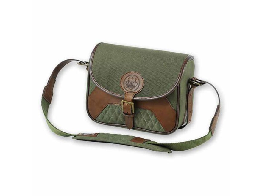 Beretta B1 Signature Large Range Bag 6 Box Canvas/Leather Loden Green/Brown