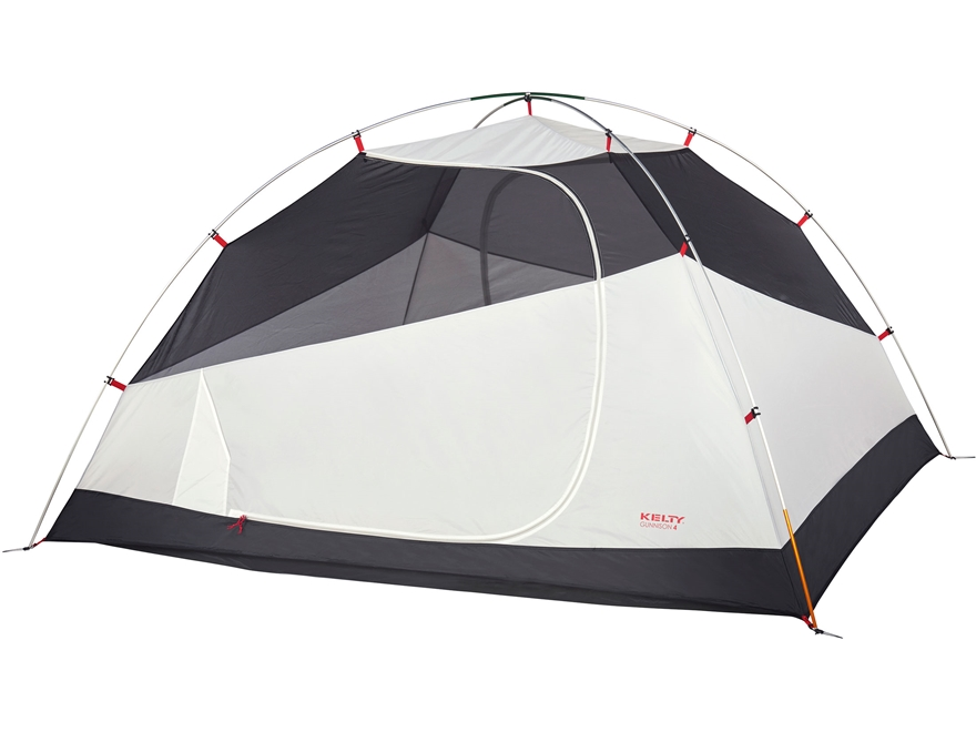 "Kelty Gunnison 4 Person Dome Tent with Footprint 99"" x 88"" x 55"" Polyester Gray"