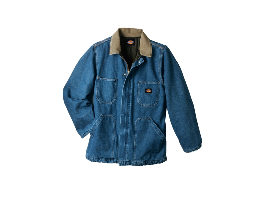 Dickies Denim Zip Front Chore Coat
