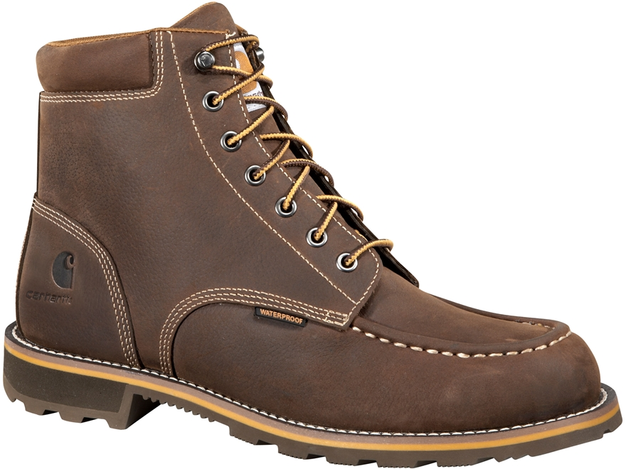 "Carhartt Traditional Welt 6"" Waterproof Work Boots Leather Men's"