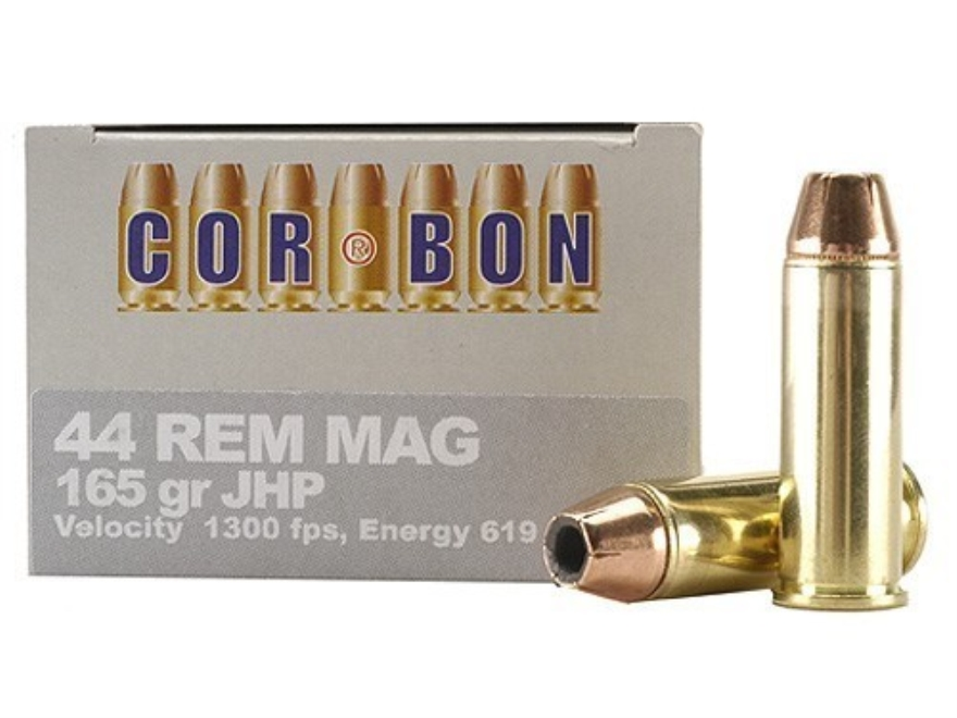 Cor-Bon Self-Defense Ammunition 44 Remington Magnum 165 Grain Jacketed Hollow Point Box...