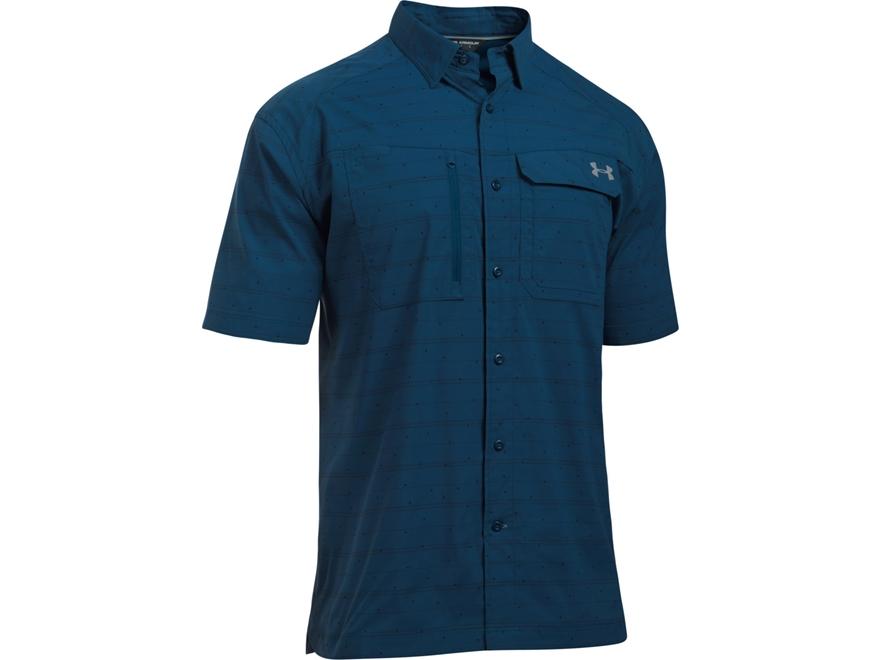 Under Armour Men's UA Fish Hunter Button-Up Shirt Short Sleeve Nylon