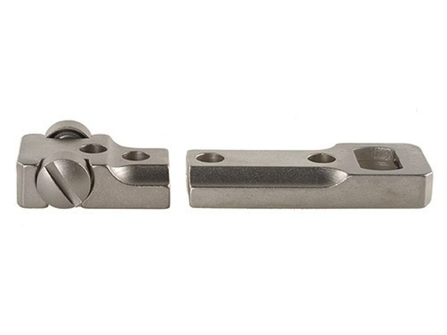 Leupold 2-Piece Standard Scope Base Winchester 70 Express Reversible Front and Rear Silver