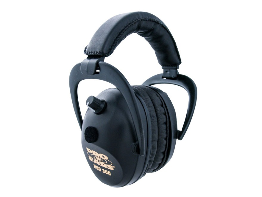Pro Ears Pro 300 Electronic Earmuffs (NRR 26 dB) Black