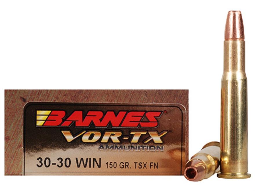 Barnes VOR-TX Ammunition 30-30 Winchester 150 Grain Triple-Shock X Bullet Flat Nose Lea...
