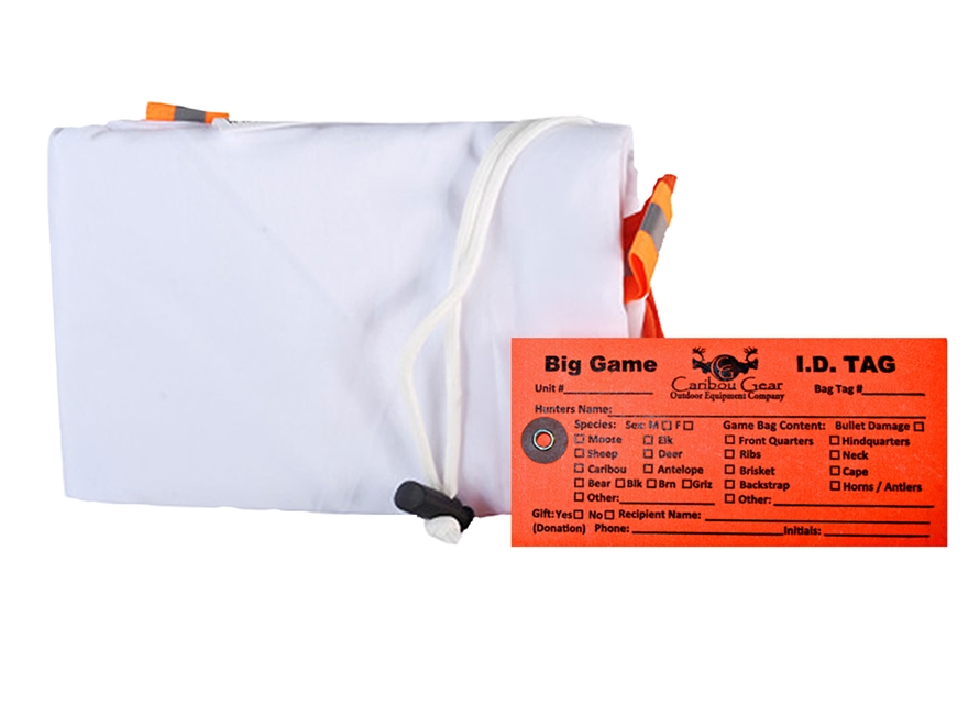 "Caribou Gear Large Quarter Game Meat Bag 60"" x 28"" Synthetic Blend White"