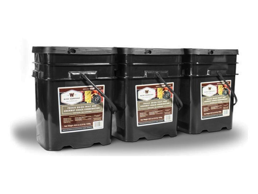 Wise Company 360 Serving Fruit and Gourmet Snack Freeze Dried Food Kit