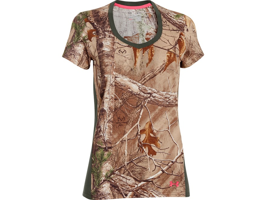 Under Armour Women 39 S Charged Cotton Camo T Shirt Short