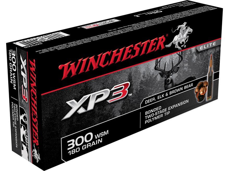 Winchester XP3 Ammunition 300 Winchester Short Magnum (WSM) 180 Grain Bonded Polymer Tip