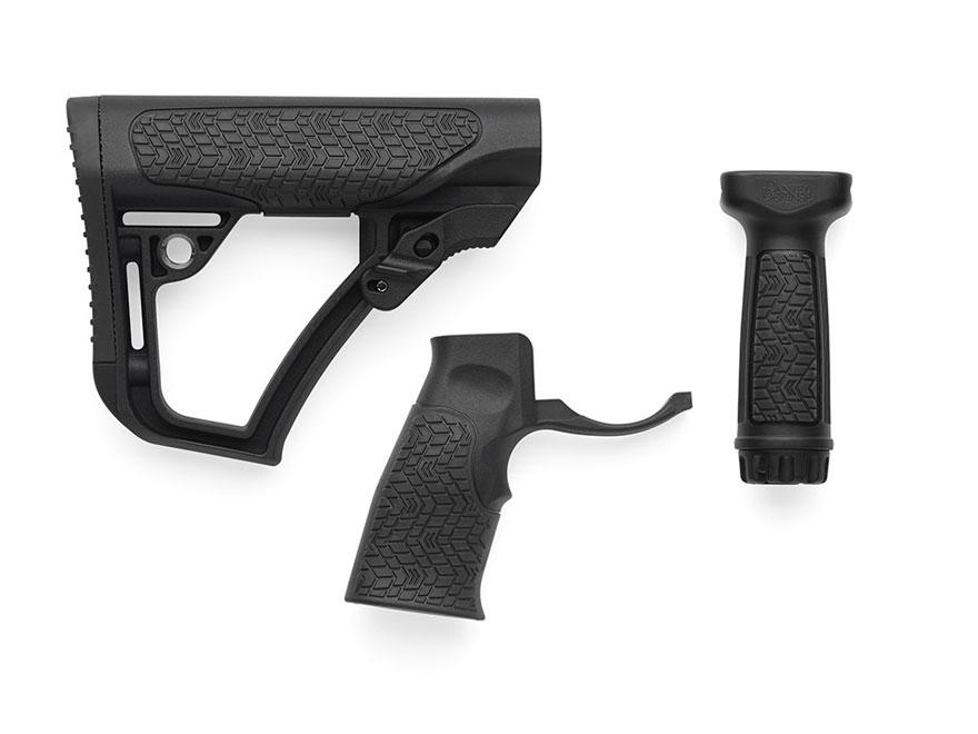 Daniel Defense Collapsible Stock, Pistol Grip, Vertical Foregrip Combo Kit Mil-Spec Dia...