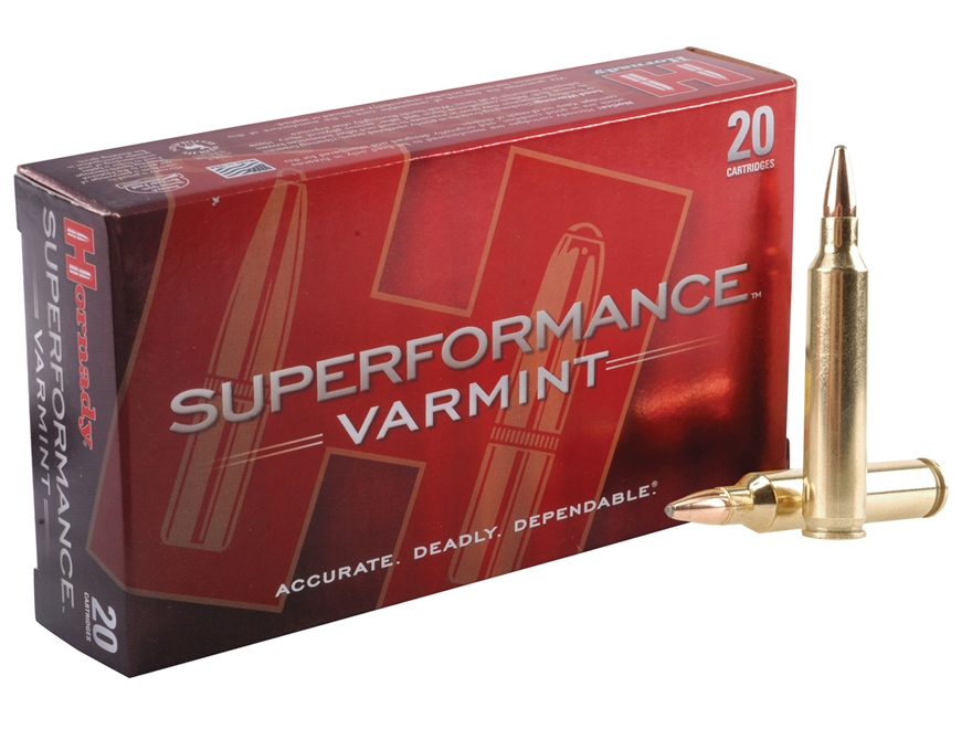 Hornady Superformance Varmint Ammunition 204 Ruger 45 Grain Jacketed Soft Point Box of 20