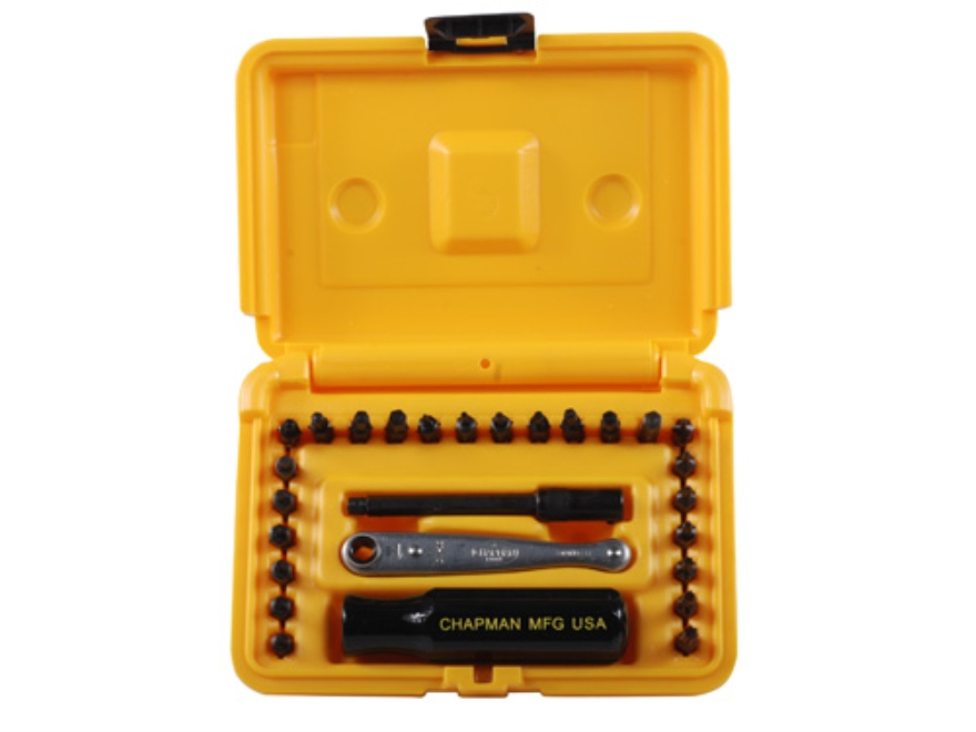 Chapman Model 2011 27-Piece Euro Screwdriver Set with Torx, Metric Hex, SAE Hex Bits