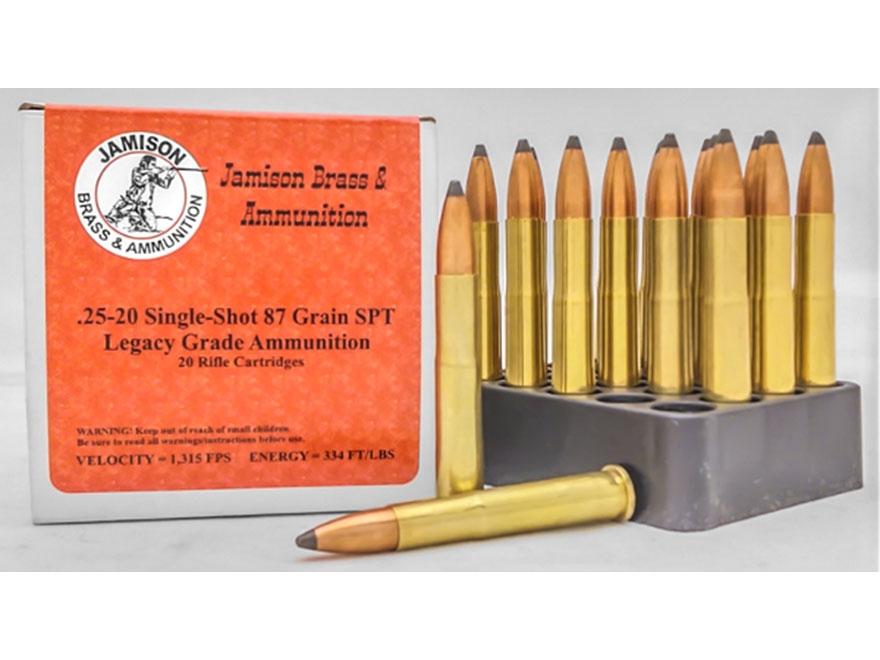 Jamison Ammunition 25-20 Single-Shot 87 Grain Spitzer Box of 20