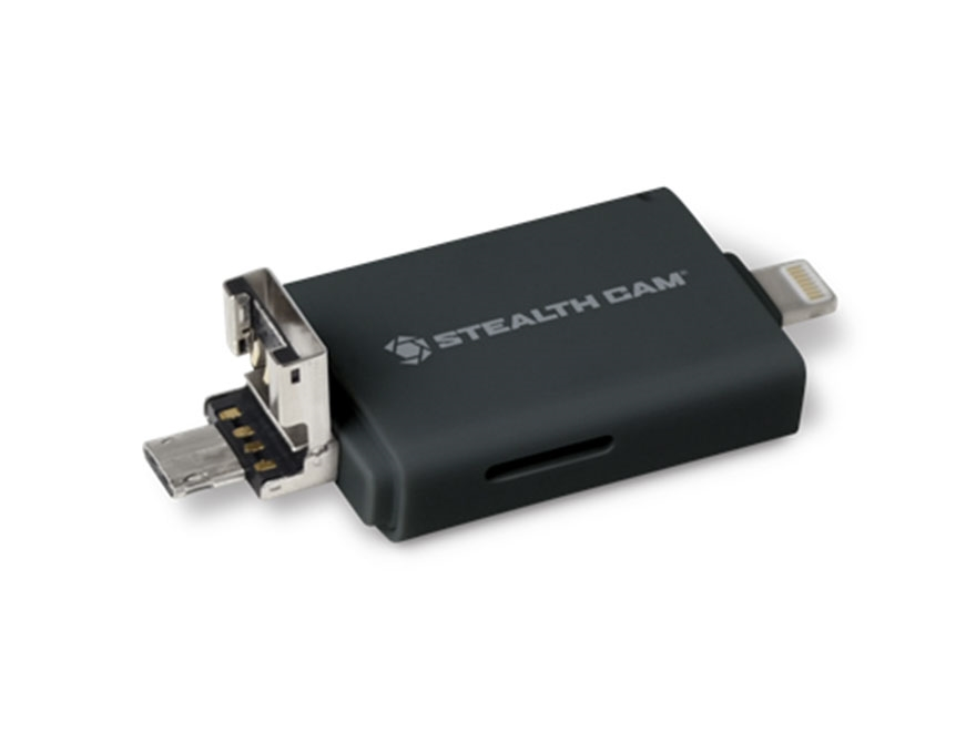 Stealth Cam Tri SD Card Reader with Adapters for Android, IOS and USB