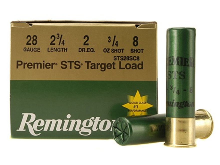 "Remington Premier STS Target Ammunition 28 Gauge 2-3/4"" 3/4 oz #8 Shot"