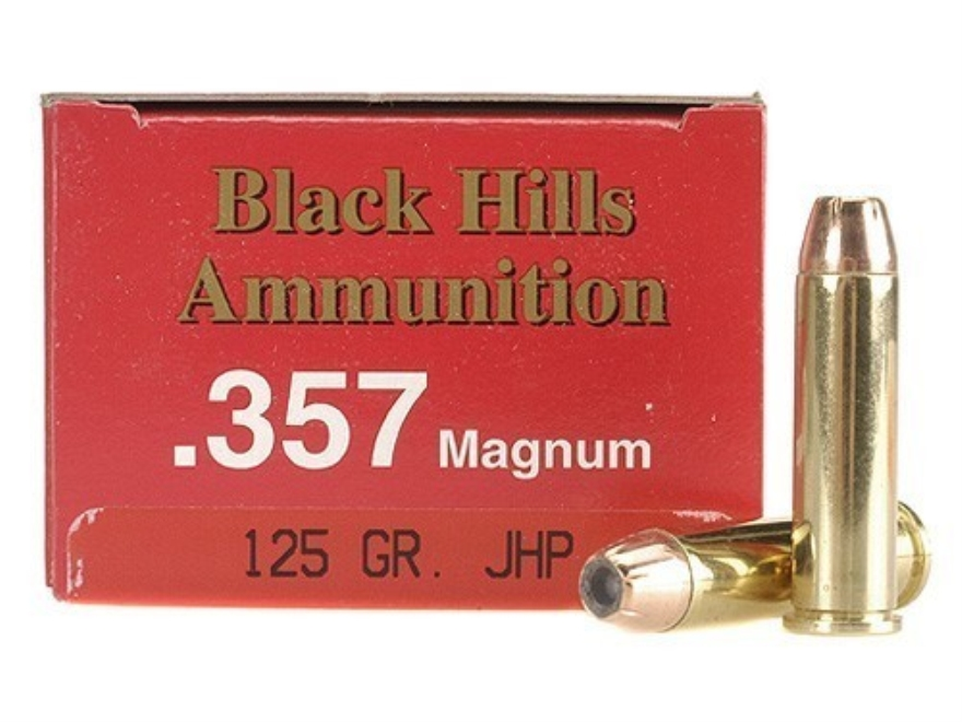 Black Hills Ammunition 357 Magnum 125 Grain Jacketed Hollow Point Box of 50