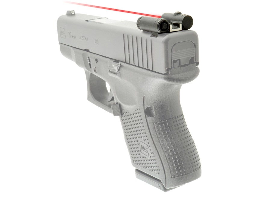 LaserLyte Rear Sight with Red Laser Glock All Models Matte