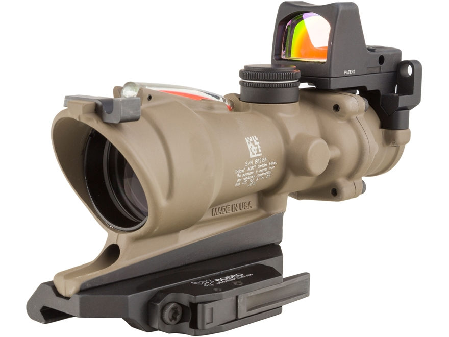 Trijicon ACOG TA31-ECOS-RMR Rifle Scope 4x 32mm Dual Illuminated Crosshair 223 Remingto...