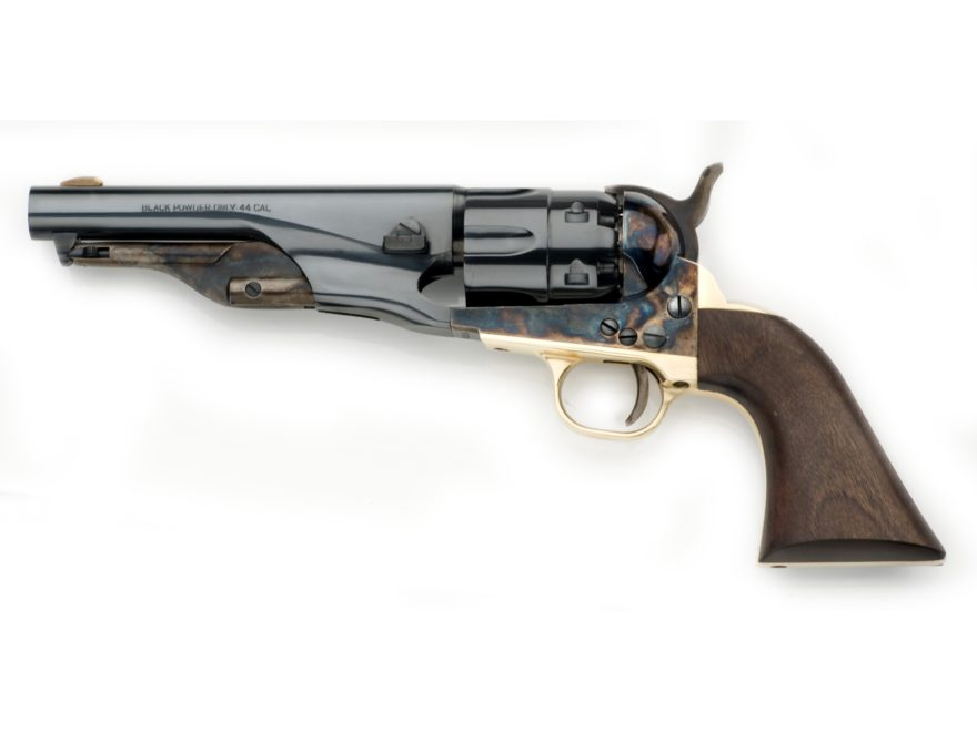 "Pietta 1860 Army Sheriff Black Powder Revolver 44 Caliber 5.5"" Barrel Steel Frame Blue"